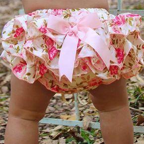 2015 del verano de raso con vuelos Bloomers del bebé Pretty Bow Infant niños niñas de la colmena del bebé cubierta del pañal del bebé pantalones recién nacidos del bebé