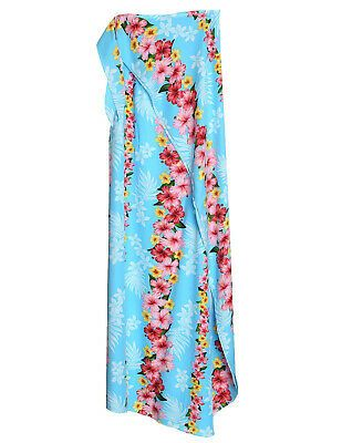(Advertisement)eBay- Large Full Size Sarong Cover-up Hibiscus Leis in Sky Blue #…