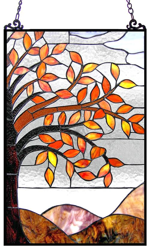TiffanyHomeDecor.com - Fall Leaves Window Panel, $159.95 (http://www.tiffanyhomedecor.com/fall-leaves-window-panel/)