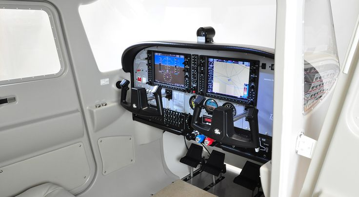 The TRC 472FG Flight System is a full replica of a Cessna 172 G1000 Glass Cockpit, including stand by instruments. Open the door and step in you own cockpit