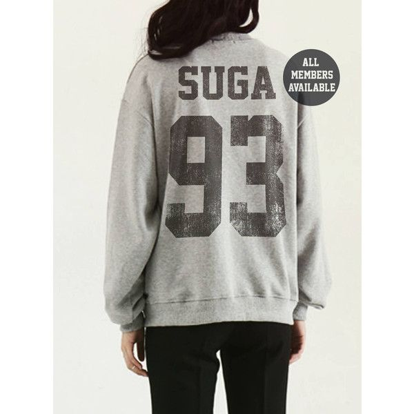 Suga Shirt Sweatshirt Kpop Shirt K Jungkook BTS Jersey Suga Jimin Jin... ($29) ❤ liked on Polyvore featuring tops, hoodies, sweatshirts, oversized jersey, shirt top, jersey shirt, shirt jersey and jersey sweatshirt