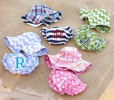 Diaper Cover & Reversible Sun Hat Collection #PotteryBarnKids