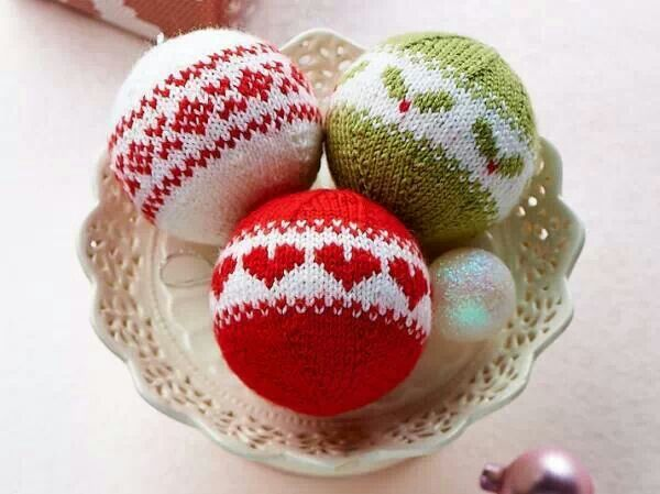 Knitting Pattern Christmas Baubles : 274 best images about Knitted christmass ball on Pinterest