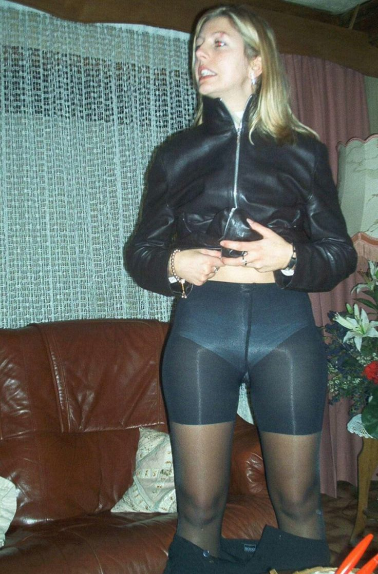 Girls using pantyhose and trousers picks