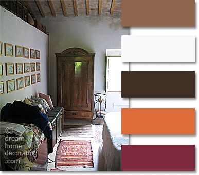 Tuscan Color Palette: Tuscan Colors In A Farmhouse Bedroom Near San  Gimignano, Tuscany, Italy Part 78