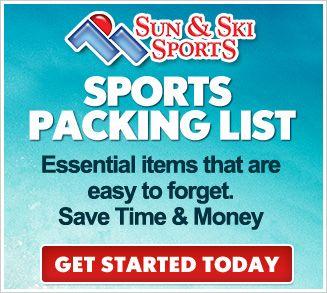 For our next ski trip!  Snow Skiing Checklist #sunandski