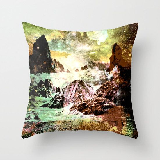 mountains pillow/fantasy pillow/beige by haroulitasDesign on Etsy