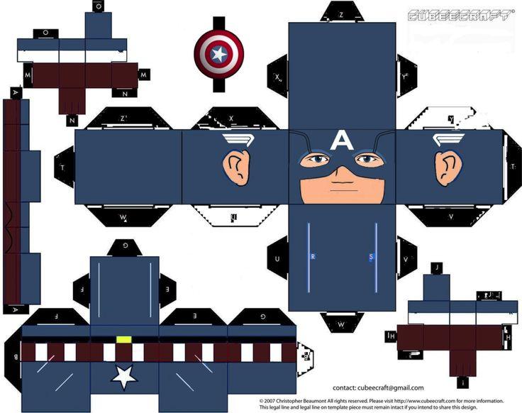 Captain America Cubeecraft (Avengers Version) by topduelist on deviantART