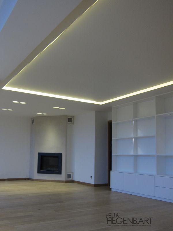les 25 meilleures ides de la catgorie faux plafond salon sur pinterest faux plafond platre plafond design et faux plafond - Faux Plafond Salle De Bain Spot