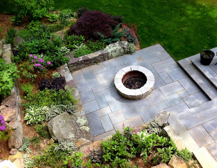 Firepit, Patio, And Garden Designed By Mary Kirk Menefee; Installed By Merrifield  Garden