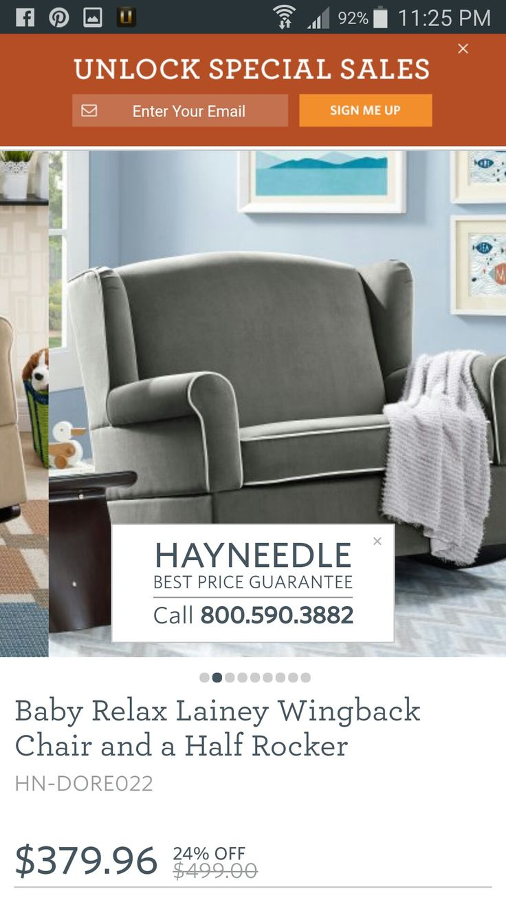 Best Gray Wing Back Rocking Chair Hayneedle 379 Chair And A 640 x 480