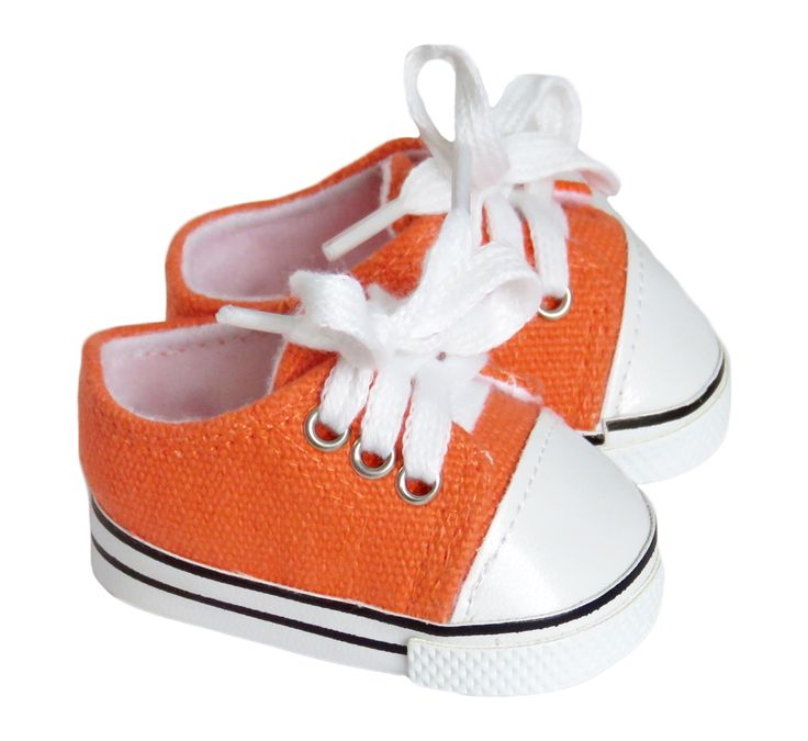 Silly Monkey - Orange Low-Rise Sneakers for American Boy Doll, $6.50 (http://www.silly-monkey.com/products/orange-low-rise-sneakers.html)