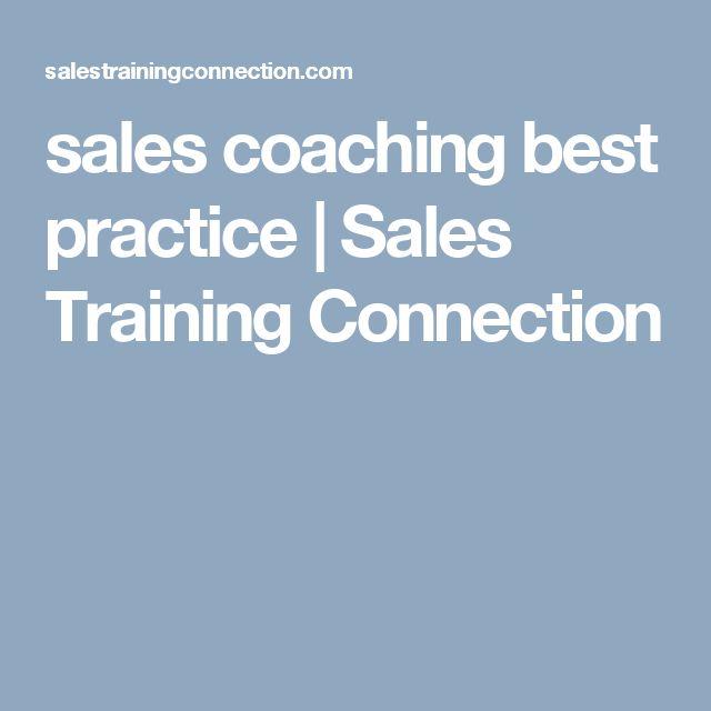 sales coaching best practice | Sales Training Connection