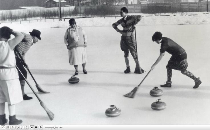Curling. 1920 Back then Pinterest