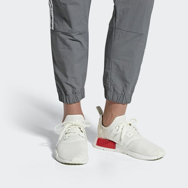 Nmd R1 Shoes Off White Off White Lush Red B37619 Womens