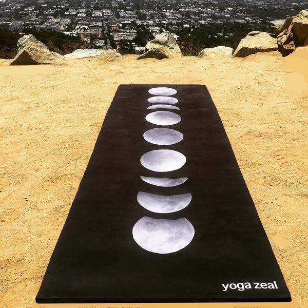 This moon phases yoga mat makes a peaceful addition to your daily yoga routine. Inspired by a beautiful night under the stars and the cycles of the moon as an art form, this yoga mat adds peaceful ser #YogaLifestyle