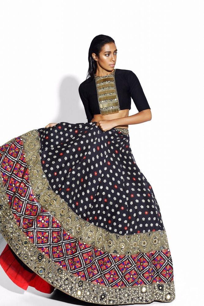Elaborate skirt by Arpita Mehta.