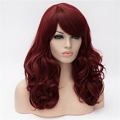 Europa och Förenta staterna 22 tum lång lockig peruk vinröd stora hår 5060248 2016 – Kr.172