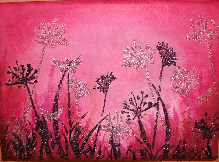 This canvas was made using Imagination Crafts Sparkle Medium.