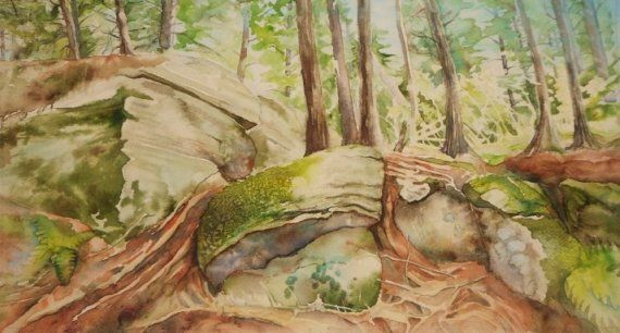 Ancient Rocks Algonquin Park by MysticalWoodsStudio on Etsy