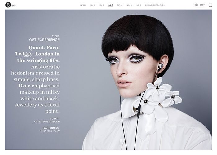 Portraits by B&O PLAY | CSS Website