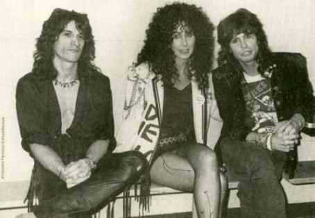Joe Perry, Cher and Steven Tyler