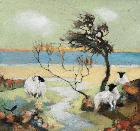 Lesley McLaren A Windy Day at Sea Signed Limited Edition Print | Scottish Contemporary Art