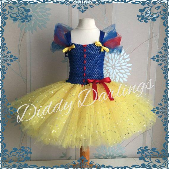Snow White Tutu Dress. Inspired Handmade Tutu by DiddyDarlings