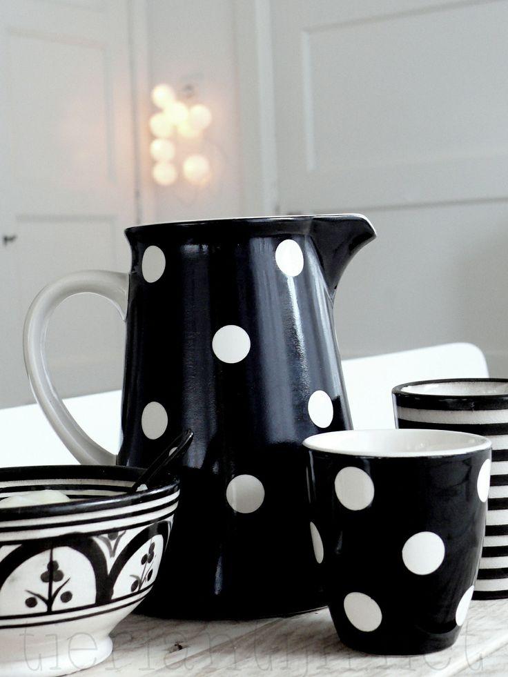 Jar, Mug, Plate with Dots -★-