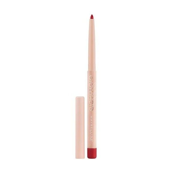 Gigi Hadid Lip Liner - West Coast Glow Makeup Look - Maybelline ($7.99) ❤ liked on Polyvore featuring beauty products, makeup, lip makeup, lip pencils, maybelline, maybelline lip pencil, maybelline lip liner and maybelline lipliner