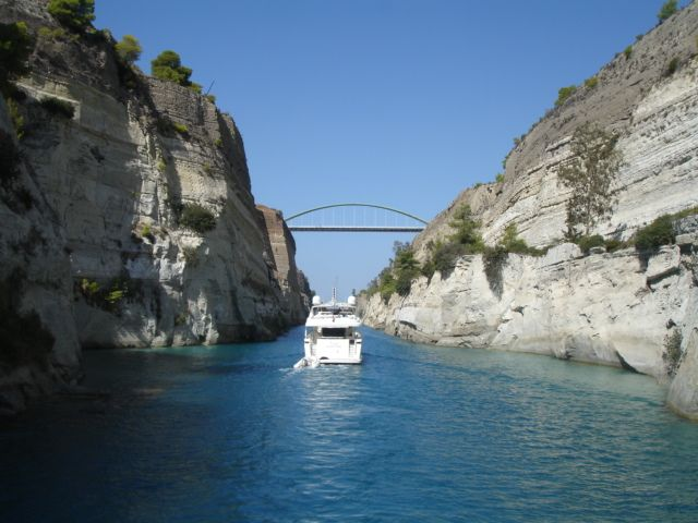 Have you thought to make the shore excursion in Corinth Canal?