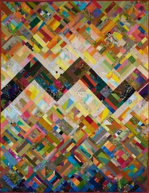 This quilt has been attributed many times to Nancy Crow.  It is actually created by David Taylor http://contemporaryquiltart.org/2010/06/07/david-taylor-quilt-exhibit/