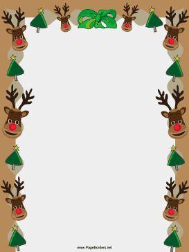 free, printable Christmas border.