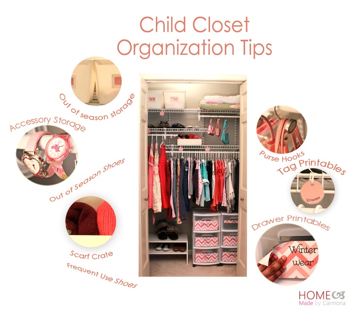 How to organize and decorate a closet on a minimal budget.