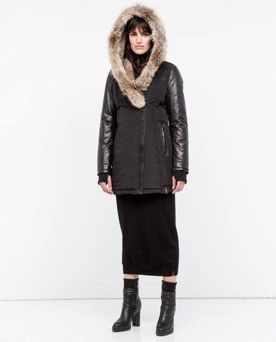 Rudsak Women's Grace Coat in Black/Natural
