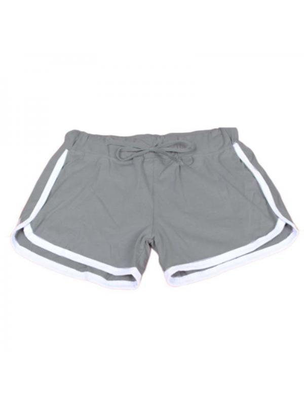 Skinny Women Drawstring Shorts Casual High Waist Elastic Waist Fitness Short