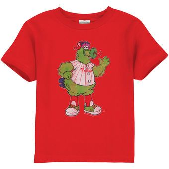 Philadelphia Phillies Toddler Red Distressed Mascot T-shirt