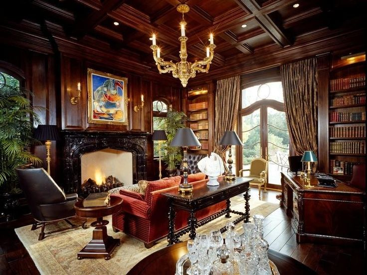 Mansions With Dark Wood Kitchens