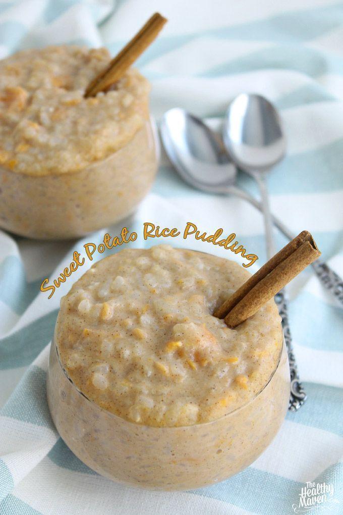 Sweet Potato Rice Pudding | The Healthy Maven