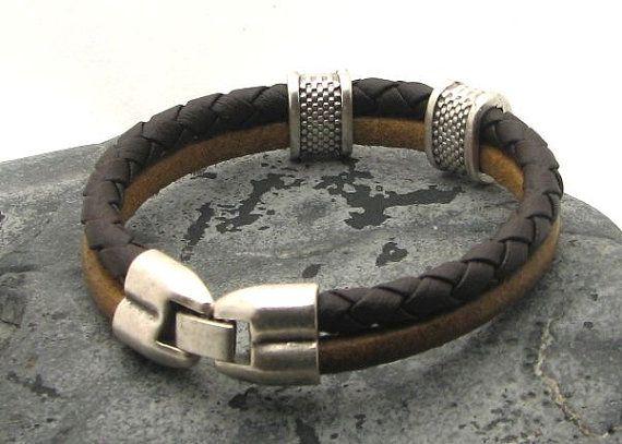 EXPRESS SHIPPING Men's Bracelet. Men Leather by eliziatelye