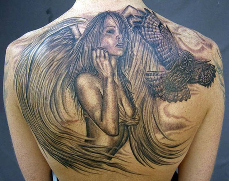 Guardian Angel Tattoos | The Guardian Tattoo