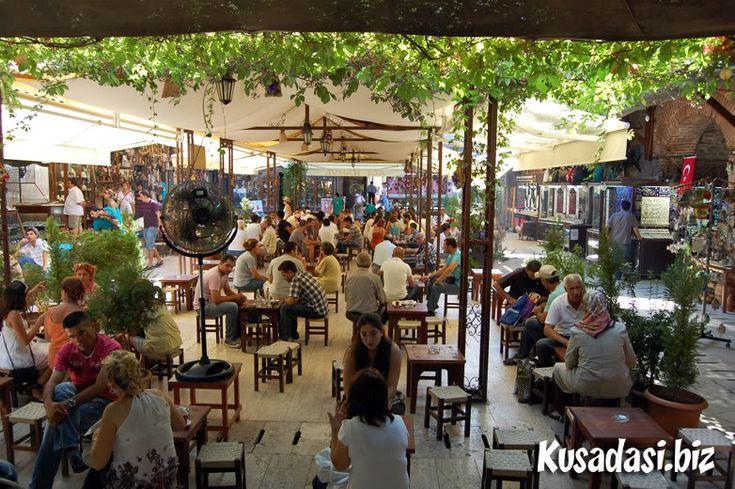 Coffeeshop inside Kızlarağası Hanı.