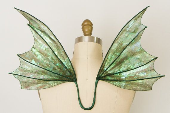 Fairy Wings Iridescent Green and Sage on Etsy by TinkersPennyBoutique