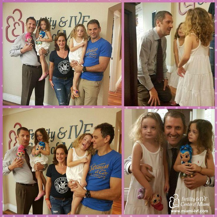 """The Sanchez Family came for a surprise visit to see Dr. Fernando Akerman - Infertility. """"Our babies"""" are blossoming into beautiful little girls! We hope they behaved at Disney as per Dr. Akerman's orders. :)  La familia Sánchez vino a visitar al Dr. Fernando Akerman - Infertility. """"Nuestras bebés"""" están floreciendo en hermosas niñas! El Dr. Akerman espera que se hayan comportaron bien en Disney!  #ttc #ttcsuccess #doctors #patients #ttcjourney #health #family #IVF #hope #fertility…"""