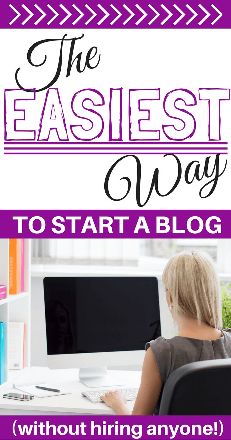 The idea of staring a blog can be stressful. So if you want to know how to start a blog and grow a successful blog, here is the easiest way to start a blog without having to hire anyone. #blog #blogging #startablog
