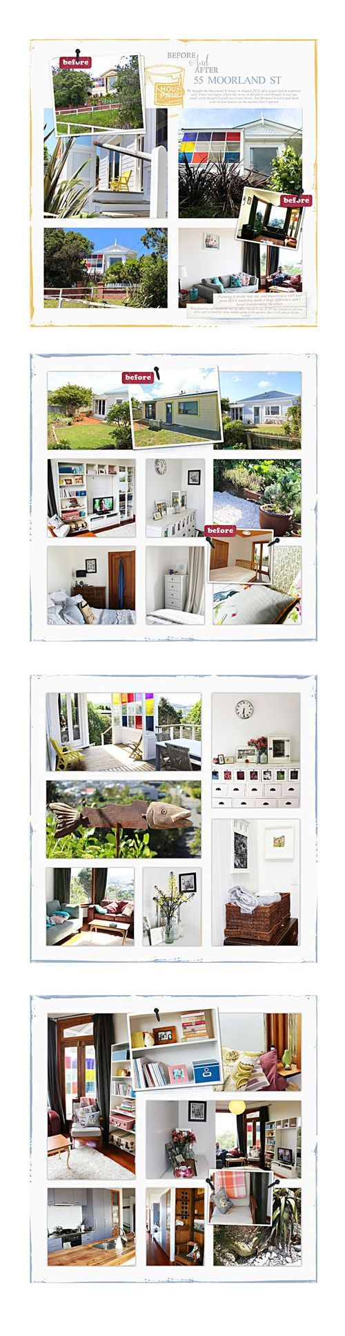 Scrap express 170 template before and after pages of home remodeling project, Lynn Grieveson, Designer Digitals   #digital #scrapbooking #photobook #templates