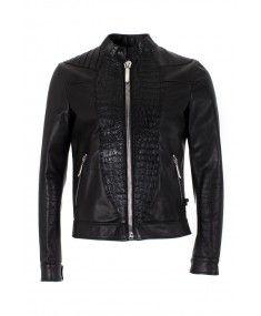 Philipp Plein - Distinct Black Leather Jacket