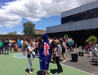 The Bogans and Aussies have crashed the Catch Office for a BBQ! Can you spot the bogans between the crowd of Catch staff?