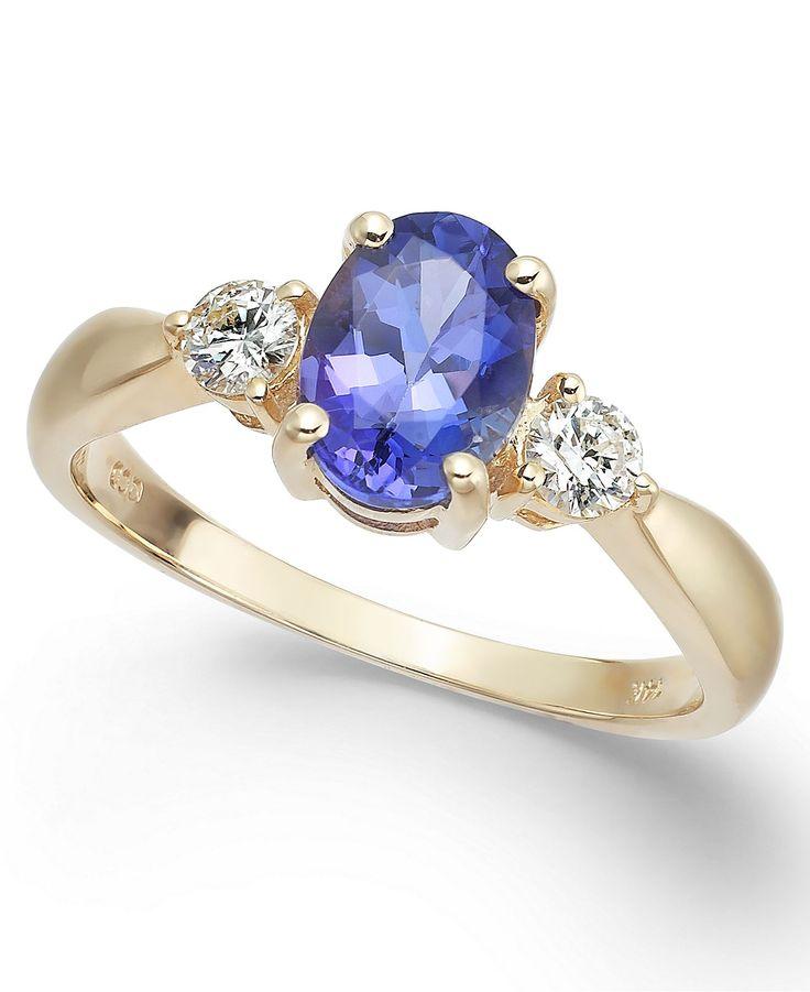 Fine Jewelry Womens 1/4 CT. T.W. Blue Tanzanite 14K Gold Bangle Bracelet rqSyg