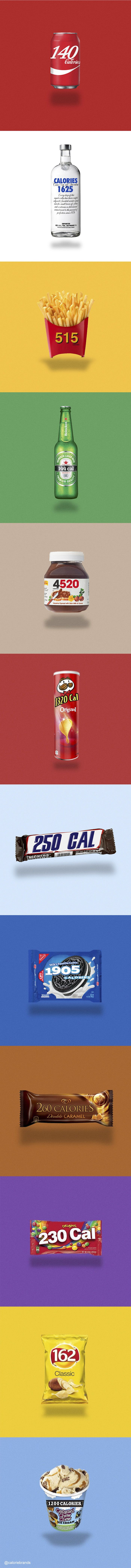 Honest Products: Famous Logos Replaced By Calorie Counts